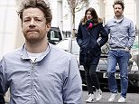 LONDON, UNITED KINGDOM - APRIL 2: Jools and Jamie Oliver are seen in Primrose Hill on April 2, 2015 in London, England. (Photo by Neil Mockford/Alex Huckle/GC Images)