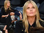 ©2015 GAMEPIKS 310-828-3445\nLos Angeles, Ca\nHeidi Klum with her kids and her boyfriend at the Staples Center to watch the Los Angeles Lakers vs the New Orleans Pelicans.\n040115\nGAMEPIKS