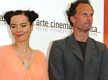 Mandatory Credit: Photo by Camilla Morandi/REX (546868d).. Bjork and Matthew Barney.. 'DRAWING RESTRAINT 9' FILM PHOTOCALL, 62ND VENICE FILM FESTIVAL, VENICE, ITALY - 02 SEP 2005.. ..