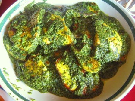 Hearty Country-style Palak Panir: