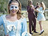 Mandatory Credit: Photo by Simon Ford/REX (4607315v)  James Argent hands Lydia Bright a letter listing girls he slept with.  'The Only Way is Essex' cast filming, Britain - 01 Apr 2015  James Argent's Mad Hatter themed party at Lynford House Hotel, Norfolk