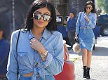 West Hollywood, CA - Denim cutie Kylie Jenner indulged in a little retail therapy on Tuesday, showing off her sexy figure in a two-piece jean ensemble as she stopped by the Nasty Gal store on Melrose. The 'Keeping Up with the Kardashians' star browsed the racks with the help of a few sales associates, not bothering to try any of the clothes on before making her purchases.  AKM-GSI      March  31, 2015 To License These Photos, Please Contact : Steve Ginsburg (310) 505-8447 (323) 423-9397 steve@akmgsi.com sales@akmgsi.com or Maria Buda (917) 242-1505 mbuda@akmgsi.com ginsburgspalyinc@gmail.com