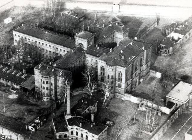 Allied authorities said Hess hanged himself with an electrical cord in Spandau Prison (pictured) in then-West Berlin on August 17, 1987