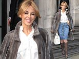 EXCLUSIVE\n Mandatory Credit: Photo by Beretta/Sims/REX (4610182g)\n Kylie Minogue\n Kylie Minogue out and about, London, Britain - 02 Apr 2015\n Kylie Minogue leaving her hotel\n