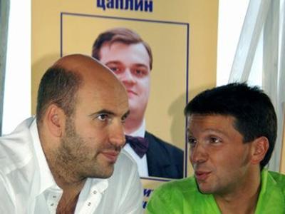 Ростислав Хаит и Леонид Барац в фильме День выборов