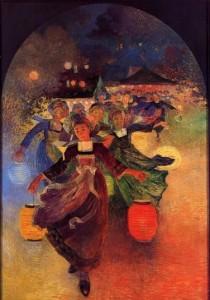 Puigaudeau,_Ferdinand_du_-_Breton_Girls_with_Chinese_Lanterns