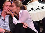 NEW YORK, NY - APRIL 01:  Cody Simpson and Gigi Hadid attend Brooklyn Nets vs New York Knicks game at Madison Square Garden on April 1, 2015 in New York City.  (Photo by James Devaney/GC Images)