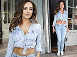 Picture Shows: Kelly Brook  April 02, 2015    British model and actress Kelly Brook seen leaving the Charlotte Street Hotel  in London.    Kelly was rocking double denim!    Worldwide Rights  Non Exclusive  Pictures by : FameFlynet UK    2015  Tel : +44 (0)20 3551 5049  Email : info@fameflynet.uk.com