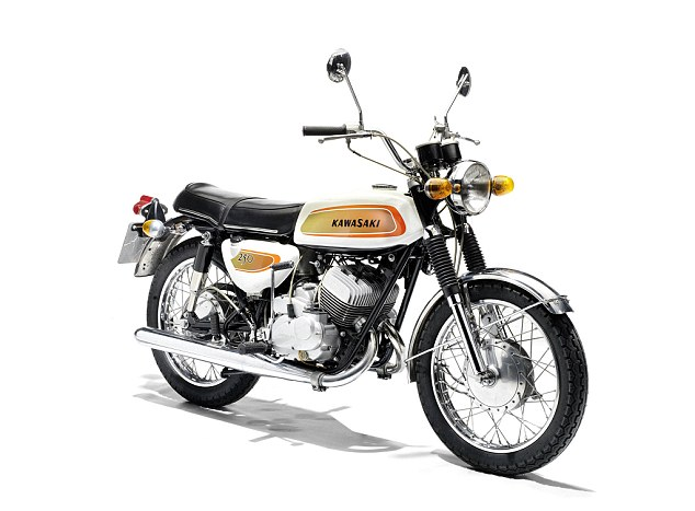 Easy rider: This Kawasaki 250cc A1 Samurai owned by James May is expected to sell for £5,000-6,000. It's lot 332