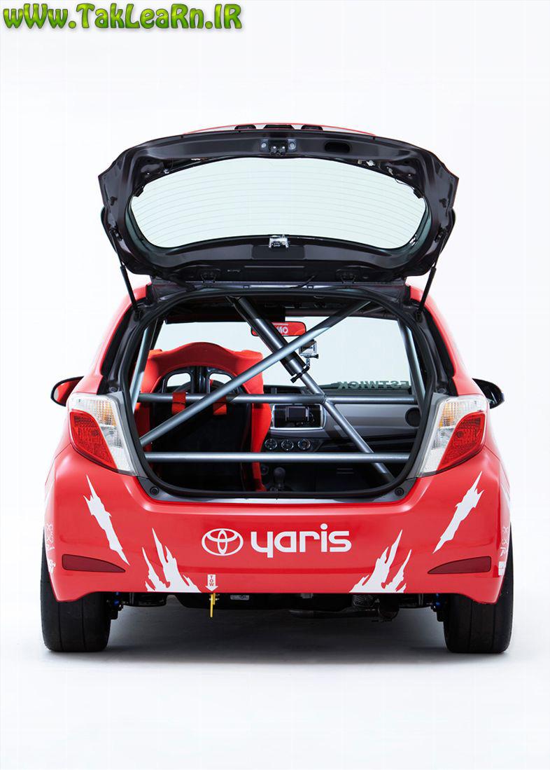 نمای صندوق عقب تویوتا یاریس اسپرت 2012 نارنجی,Toyota-Yaris-Racer-rear-view