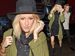 3 Apr 2015 - LONDON - UK  ELLIE GOULDING AND BOYFRIEND DOUGIE POYNTER SEEN LEAVING THE WOLSELEY RESTAURANT IN LONDON AFTER ENJOYING A ROMANTIC MEAL OUT. ELLIE WAS SEEN FLASHING OFF A RING ON HER ENGAGEMENT FINGER AS SHE MADE HER WAY TO HER CAR. BYLINE MUST READ : XPOSUREPHOTOS.COM  ***UK CLIENTS - PICTURES CONTAINING CHILDREN PLEASE PIXELATE FACE PRIOR TO PUBLICATION ***  **UK CLIENTS MUST CALL PRIOR TO TV OR ONLINE USAGE PLEASE TELEPHONE   44 208 344 2007 **