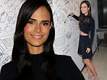 """Actress Jordana Brewster participates in AOL's BUILD Speaker Series to discuss her recurring role in the """"Fast & Furious"""" film franchise at AOL Studios on Friday, April 3, 2015, in New York. (Photo by Evan Agostini/Invision/AP)"""