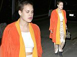 135109, Tallulah Willis seen in an orange cape at Chateau Marmont in West Hollywood. Los Angeles, California - Friday, April 03, 2015. Photograph:    MHD, PacificCoastNews. Los Angeles Office: +1 310.822.0419 sales@pacificcoastnews.com FEE MUST BE AGREED PRIOR TO USAGE