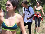 Malibu, CA - Kendall Jenner and Jaden Smith took over the trails on Saturday as they went on a relaxing hike in Malibu with a massive posse of their friends. The two celebrity kids laughed and joked around with each other, soaking up the L.A. sunshine and enjoying nature. \nAKM-GSI        April 4, 2015\nTo License These Photos, Please Contact :\nSteve Ginsburg\n(310) 505-8447\n(323) 423-9397\nsteve@akmgsi.com\nsales@akmgsi.com\nor\nMaria Buda\n(917) 242-1505\nmbuda@akmgsi.com\nginsburgspalyinc@gmail.com