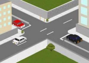 23 - در این تقاطع علامت توقف با خط سفید پیوسته بر روی سطح راه دیده میشود دلیل ترسیم خط ایست در این محل چیست؟