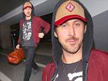 sexy new dad Ryan Gosling leaving LA at AX airport april 4, 2015 /X17online.com