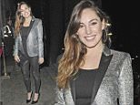 """EXCLUSIVE: Kelly Brook pictured leaving her venue 'STEAM AND RYE' in the City after spending the night there from 8pm dining and partying with her group of close friends. Kelly is only back in London for a couple of weeks to spend Easter with her friends and Family while her new US Comedy show """"ONE BIG HAPPY"""" has made a successful debut in America and has been commissioned for a second series\n\nPictured: Kelly Brook\nRef: SPL990873  040415   EXCLUSIVE\nPicture by: Splash News\n\nSplash News and Pictures\nLos Angeles: 310-821-2666\nNew York: 212-619-2666\nLondon: 870-934-2666\nphotodesk@splashnews.com\n"""