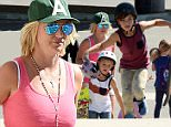 Pictured: Britney Spears, Jayden James Federline, Sean Federline\nMandatory Credit © Milton Ventura/Broadimage\n****EXCLUSIVE***\nBritney Spears treats sons Sean Preston and Jayden with new skateboards and protective gear while out in Thousand Oaks\n\n4/4/15, Thousand Oaks, California, United States of America\n\nBroadimage Newswire\nLos Angeles 1+  (310) 301-1027\nNew York      1+  (646) 827-9134\nsales@broadimage.com\nhttp://www.broadimage.com\n