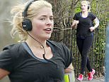 LONDON - UK\n***EXCLUSIVE ALL ROUND PICTURES - STRICTLY AVAILABLE FOR UK NEWSPAPERS ONLY***\nBRITISH TV PRESENTER HOLLY WILLOUGHBY PICTURED ENJOYING A GRUELLING POST PREGNANCY JOG WHILE EXERCISING NEAR THE THAMES RIVER IN LONDON!\nBYLINE MUST READ : XPOSUREPHOTOS.COM\n***UK CLIENTS - PICTURES CONTAINING CHILDREN PLEASE PIXELATE FACE PRIOR TO PUBLICATION ***\nUK CLIENTS MUST CALL PRIOR TO TV OR ONLINE USAGE PLEASE TELEPHONE 0208 344 2007**