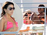 EXCLUSIVE TO INF.\nApril 5, 2015: Eva Longoria and Serena Williams show off their assets in brightly colored bikinis poolside in Miami Beach. Serena taking some time to relax following her Miami Open win yesterday. Eva was with boyfriend Jose Antonio Baston, and the two were seen using a selfie stick to take pictures of themselves. Scottie Pippen and some friends stopped by and said hello.\nMandatory Credit: INFphoto.com Ref: infusmi-11/13