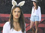 Picture Shows: Alessandra Ambrosio  April 05, 2015\n \n Model Alessandra Ambrosio throws an Easter party for her family and friends in Brentwood, California. Alessandra, who was rocking bunny ears, even hired a costumed Easter Bunny for the party! \n \n Non-Exclusive\n UK RIGHTS ONLY\n \n Pictures by : FameFlynet UK © 2015\n Tel : +44 (0)20 3551 5049\n Email : info@fameflynet.uk.com