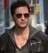 Looking good: Peter Facinelli sported an edgy brown leather jacket as he walked to his cab in NYC