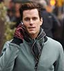 Plenty to talk about: Matt Bomer chatted on his mobile phone while strolling through New York City
