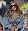 Me and my girls: Sarah Jessica Parker walked with her twin daughters Marion and Tabitha Broderick in New York City on Wednesday