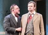 David Bamber as William R Chumley and James Dreyfus as Elwood P Dowd in Harvey. Photo by Manuel Harlan (2).jpg