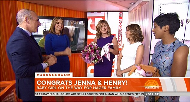 Congrats! Jenna Bush Hager revealed that she is expecting her second daughter with husband Henry Hager live on this morning's Today show