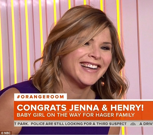 Proud mother: The Today show's official 'adventure correspondent' was incredibly excited to reveal her happy news