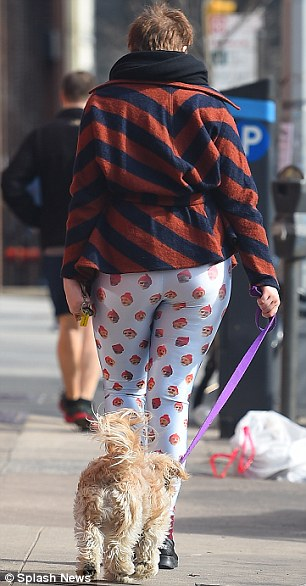 All things bright and beautiful: The Girls star donned a colourful and eclectic mix of workout gear