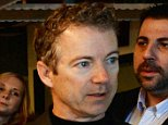 ROCHESTER, NH - MARCH 21: U.S. Senator Rand Paul (R-KY) speaks Rob Larson at Pink Cadillac Diner on March 21, 2015 in Rochester, New Hampshire. Paul, who has made many trips to New Hampshire which holds the first primary in the nation, has set a date in early April to decide on whether he will or will not run for president. (Photo by Darren McCollester/Getty Images)