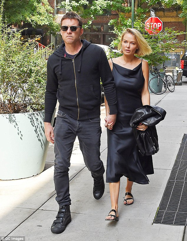 Spotted: Lara  stepped out with Sam in New York in September last year