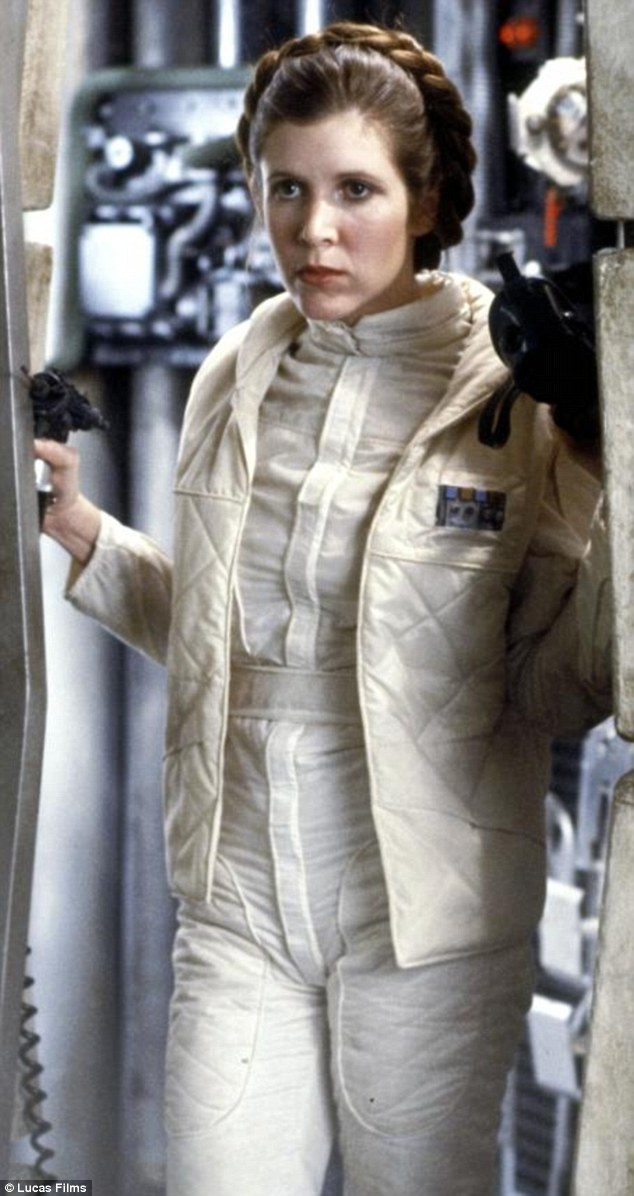Flashback: Carrie starred in Star Wars episodes IV, V, and VI, the first of which debuted in 1977
