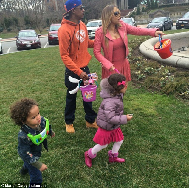 United for their kids: Mariah Carey and ex Nick Cannon spent the day with their three-year-old twins Moroccan and Monroe