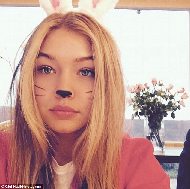 Model rabbit: Gigi Hadid shared a snap of herself as a little bunny