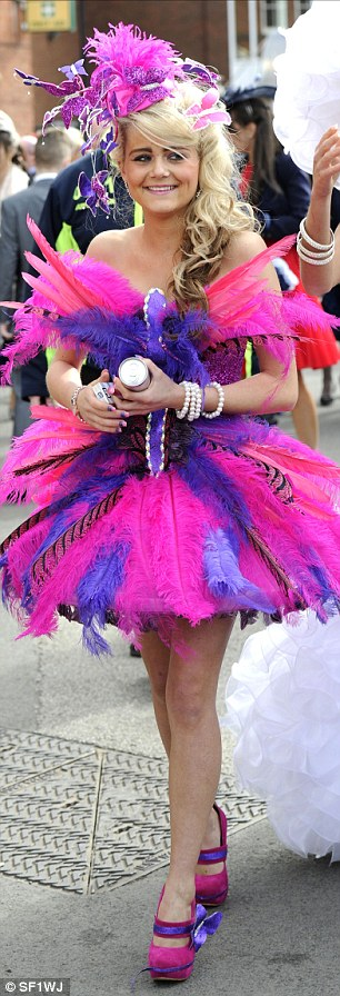 Dark glasses required! All the girls in the hen party had their own frocks made including this neon purple and pink ensemble