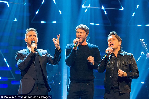 Mrs Jones and her friends are seeing Take That (pictured) several times this year, including in London, Birmingham, Manchester and Milan, Italy