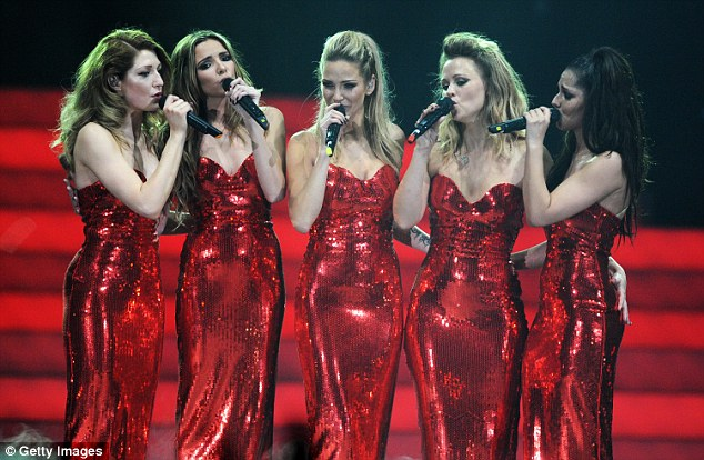 Huge hit: Girls Aloud had four number one singles and a further 16 top 10 hits over the course of seven years