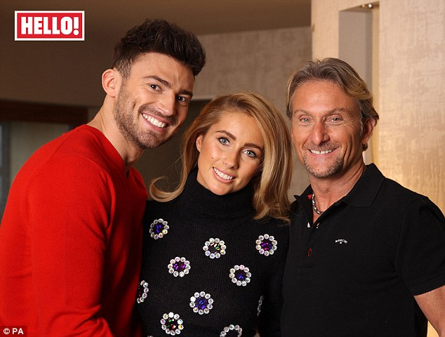 Getting serious: I'm A Celebrity ... Get Me Out Of Here star Jake Quickenden (left) has moved in with daughter Danielle - the daughter of Carl Fogarty (right)