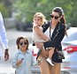 Kim Kardashian, Kanye West, North West, Kourtney Mason and Penelope as well as Tyga with his son King arrive for Easter Services in Woodland Hills  Pictured: Kim Kardashian, Kanye West, North West, Kourtney Kardashian, Mason Disick, Penelope Disick, Tyga, Corey Gamble, King Ref: SPL992323  050415   Picture by: Fern / Splash News  Splash News and Pictures Los Angeles: 310-821-2666 New York: 212-619-2666 London: 870-934-2666 photodesk@splashnews.com
