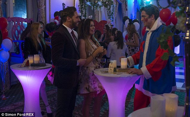 One of the boys: Jessica, who broke up with Ricky Rayment back in December, was talking to her co-stars Mario Falcone and Lewis Bloor at the time