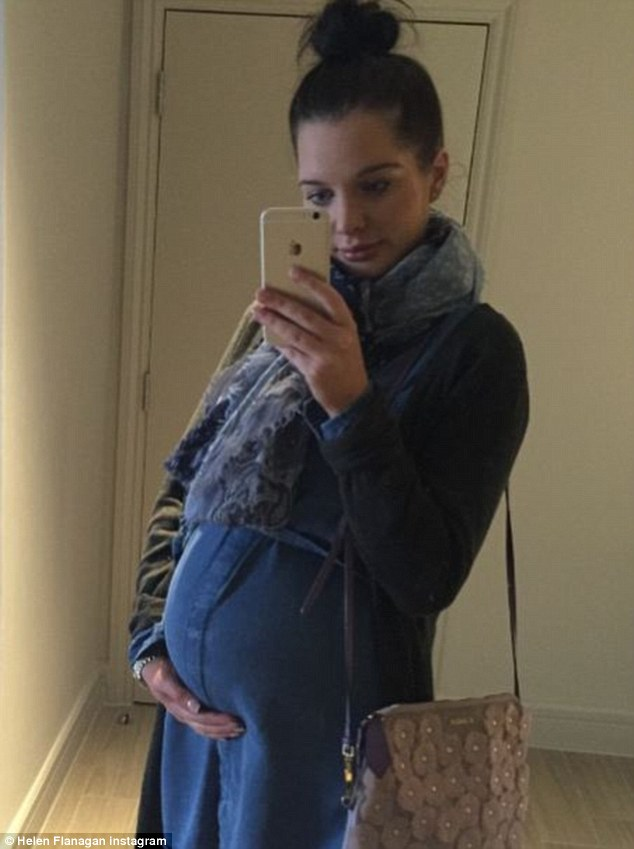 Not long to go! Helen Flanagan shared a selfie of her growing bump via Instagram on Saturday