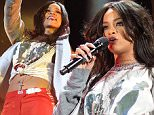 INDIANAPOLIS, IN - APRIL 04:  Rihanna performs live onstage at Whiteriver State Park on April 4, 2015 in Indianapolis, Indiana.  (Photo by Joey Foley/WireImage)