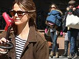 EXCLUSIVE TO INF.\nApril 04, 2015: Keri Russell spends her Saturday afternoon with Matthew Rhys and her children Willa and and River in New York City. They are spotted walking along Brooklyn Bridge park where they stop to take family pictures before relaxing on a lawn area near the water.  Keri and Matthew are seen hugging and kissing before heading back to their home.  Pictured here: Keri Russell,  Matthew Rhys, Willa Lou Deary.\nMandatory Credit: INFphoto.com Ref: infusny-99\n