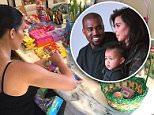 Kim Kardashian Easter family Kanye and North