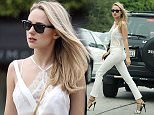 Exclusive. Coleman-Rayner. \nBeverly Hills, CA. USA. 2nd April, 2015\nKimberley Garner avoids a wardrobe malfunction as she goes shopping for a classic car in a see-through white top in Los Angeles today. The UK socialite was also seen shopping for quality furniture and homewares before filling her car with petrol. \nCREDIT LINE MUST READ: Glen McCurtayne/Coleman-Rayner\nTel US (001) 310-4744343- office \nTel US (001) 323 5457584 - cell\nwww.coleman-rayner.com
