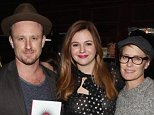 "NEW YORK, NY - APRIL 06:  Ben Foster, Amber Tamblyn and Robin Wright attend Amber Tamblyn ""Dark Sparkler"" Book Release Party at Housing Works Bookstore Cafe on April 6, 2015 in New York City.  (Photo by Robin Marchant/Getty Images)"