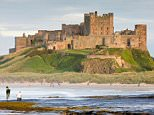 B4W1DF UK Northumberland Bamburgh Castle